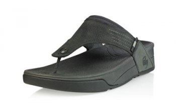 Men's Fitflop Dass Sandal Charcoal Hot Sale