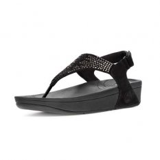 Womens Fitflop Flare Black Shoes Newstyle