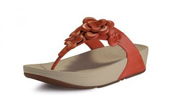 Womens Fitflop Fleur Mineral Red Newstyle