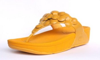 Womens Fitflop Fleur Yellow Shoes Hot Sale