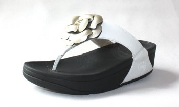 Womens Fitflop Florent White Gold Hot Sale