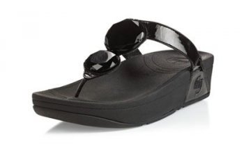 Womens Fitflop Luna slippers Black Hot Sale