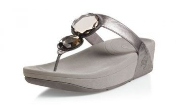 Fitflop Womens Luna slippers Pewter Hot Sale