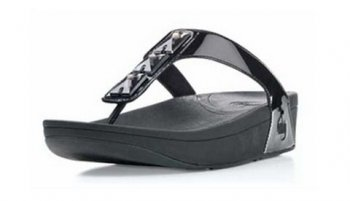Women Fitflop Pietra Black slippers Hot Sale