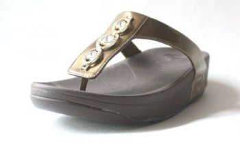 Womens FitFlop Pietra Bronze Sandals Hot Sale