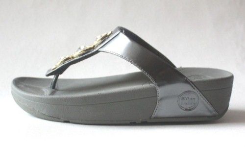 Womens FitFlop Pietra Grey Sandals Hot Sale