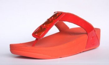 Womens FitFlop Pietra Orange Sandals Hot Sale