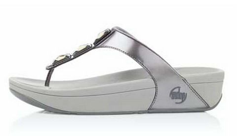 Women Fitflops Pietra Pewter slippers Hot Sale