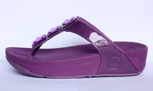 Womens FitFlop Pietra Purple Sandals Hot Sale