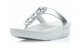 Women Fitflop Pietra slippers Silver Hot Sale
