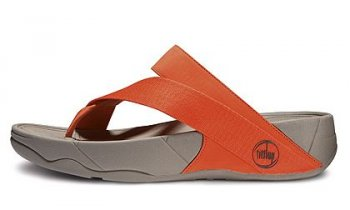 Women FitFlop Sling Flat Orange Newstyle