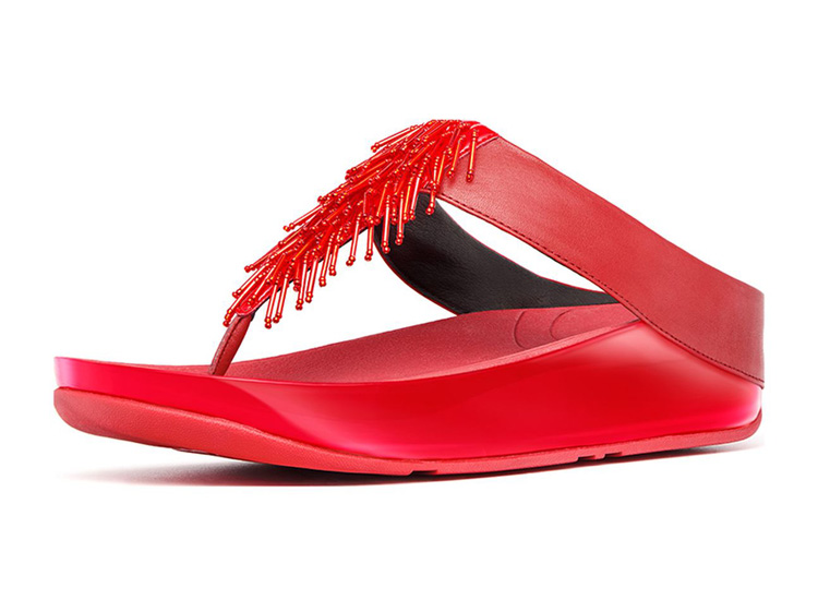 Fitflop Cha Cha Red Sandals For Women Hot Sale