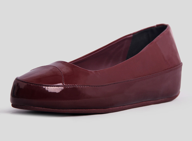 Fitflop Due Wine Ballet Flats For Women Hot Sale