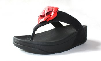 Womens Fitflop Florent Black Red Newstyle