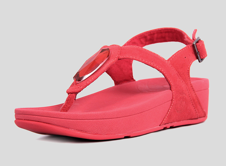 Womens Fitflop Chada Suede Thong Sandal Hibiscus