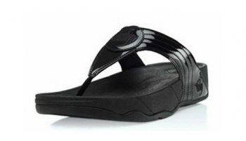 Womens Fitflops Walkstar 3 Black Patent Toning