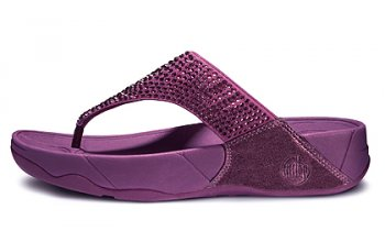Womens Fitflop Rokkit Purple Sandals Hot Sale