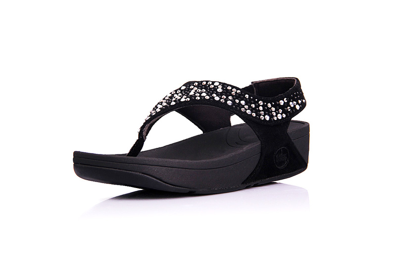 Black Womens Fitflop Suisei Thong Sandal Hot Sale