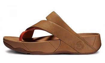 FitFlop Sling Leather Tan And Orange Women