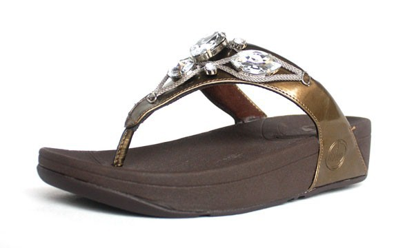Fitflop Bronze Thong Sandal For Women Hot Sale