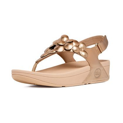 Fitflop Fleur Thong Pale Bronze Sandals For Women