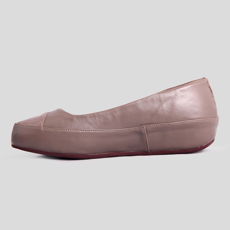 Fitflop Mink Due Leather Ballerina Flat For Women