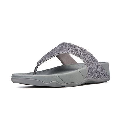 Womens Fitflop Astrid Thong Sandals Pewter