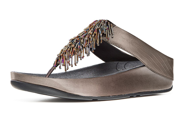Womens Fitflop Cha Cha Pewter New Arrival