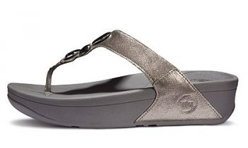 Women's FitFlop Lunetta Thong Sandal Pewter