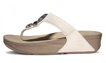Women's Fitflop Lunetta Thong Sandal White