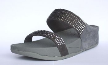 Womens Fitflop Rock Chic Deep Grey Shoes