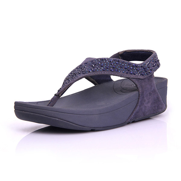 Fitflop Womens Suisei Thong Pewter Sandal
