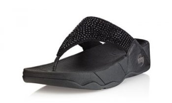 Womens Fitflops Rokkit Pretty Black Diamond
