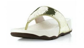 Girls Fitflop Electra Sandal Gold Toning Thong
