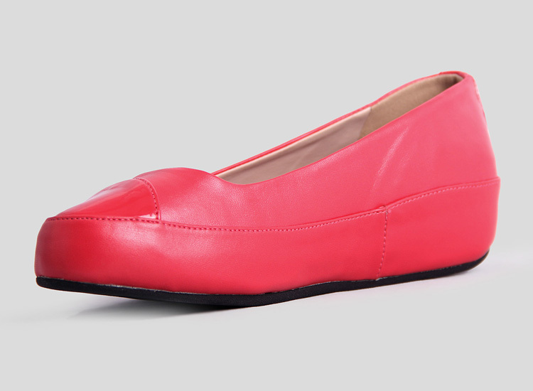 Womens Pink Fitflop Due Leather Ballet Pumps