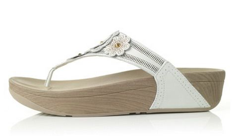 Womens Shinny Fitflop Fiorella Sandals White