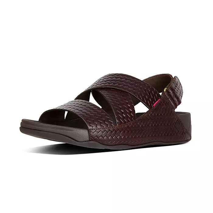 Chi Men's Woven Embossed Leather Sandals