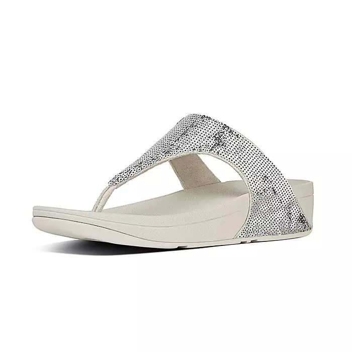 Electra Micro-Sequin Toe-Thong Sandals