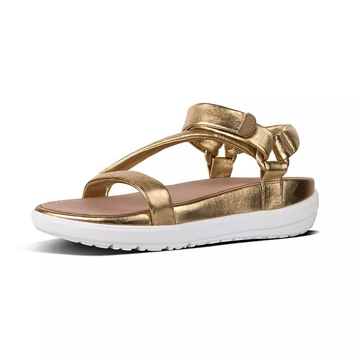 Loosh Luxe Z-Strap Metallic Leather Sandals