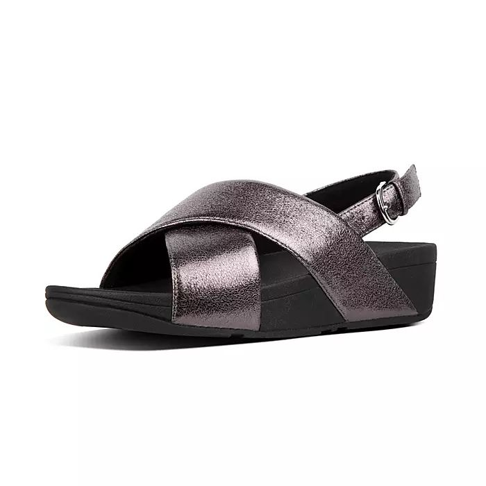 Lulu Faux Leather Back-Strap Sandals