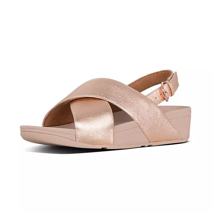 Lulu Leather Back-Strap Sandals