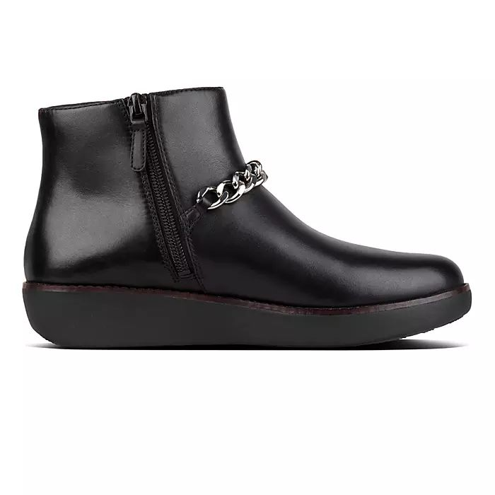 Pia Leather Ankle Boots