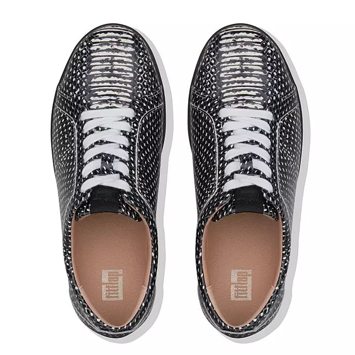 Rally Dotted-Snake Leather Sneakers
